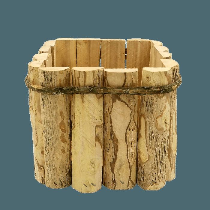 Cachepo - kit quadrado e redondo - dupla rustica