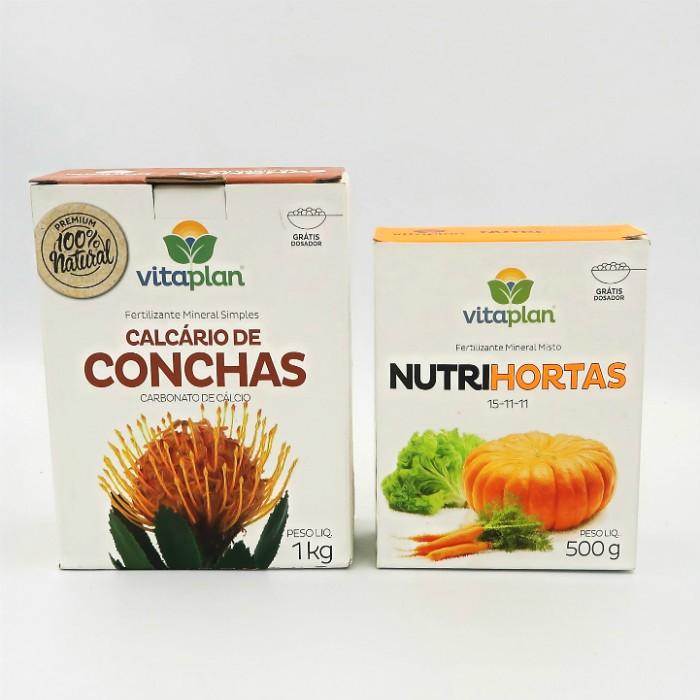 Calcario de conchas + nutrihortas - vitaplan