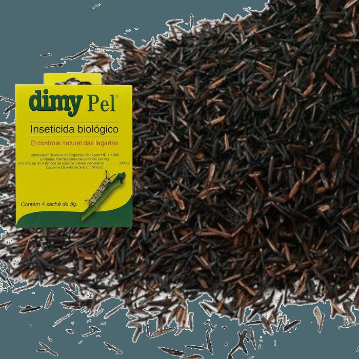 Casca de Arroz Carbonizada - 2  kg ( 28 litros ) + Dimy Pel