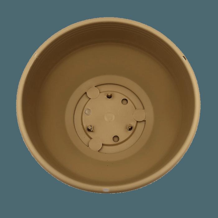Cuia com prato - areia - 12 x 24 cm - kit 03 unid