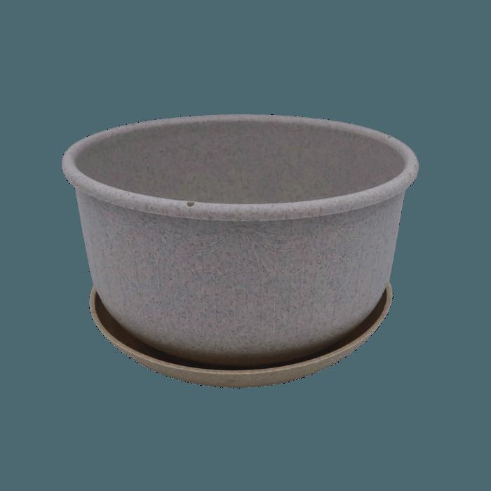 Cuia com prato - granito - 09 x 15 cm
