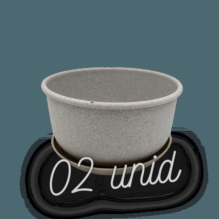 Cuia com prato - granito - 09 x 15 cm kit 2 unid