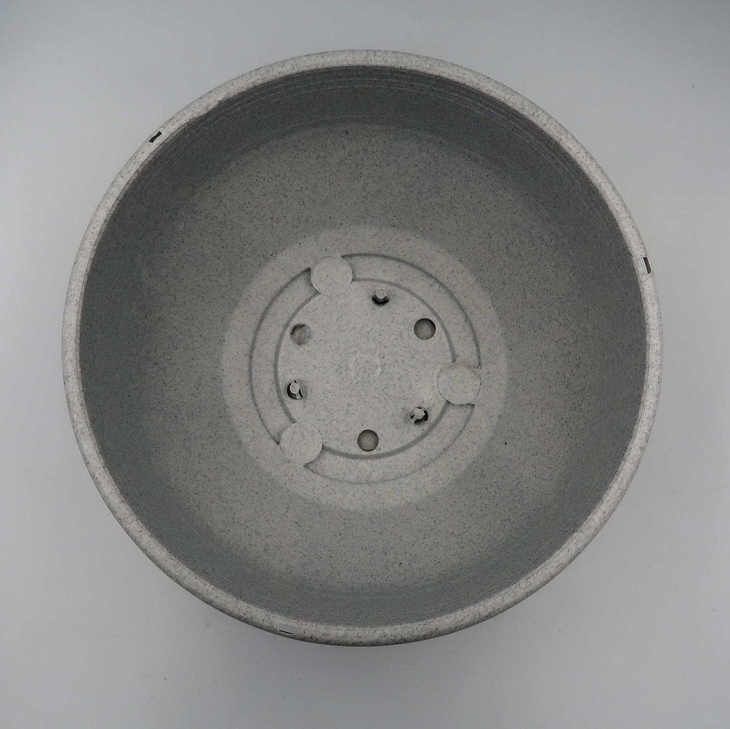 Cuia com prato - granito - 12 x 24 cm