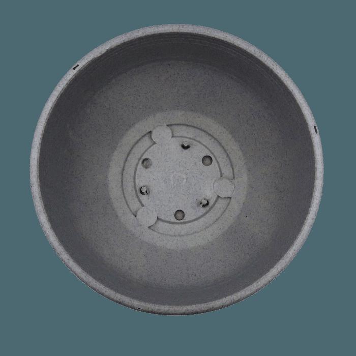 Cuia com prato - granito - 12 x 24 cm - kit 02 unid