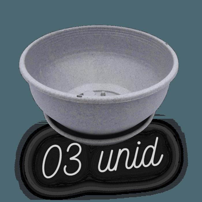 Cuia com prato - granito - 12 x 24 cm - kit 03 unid