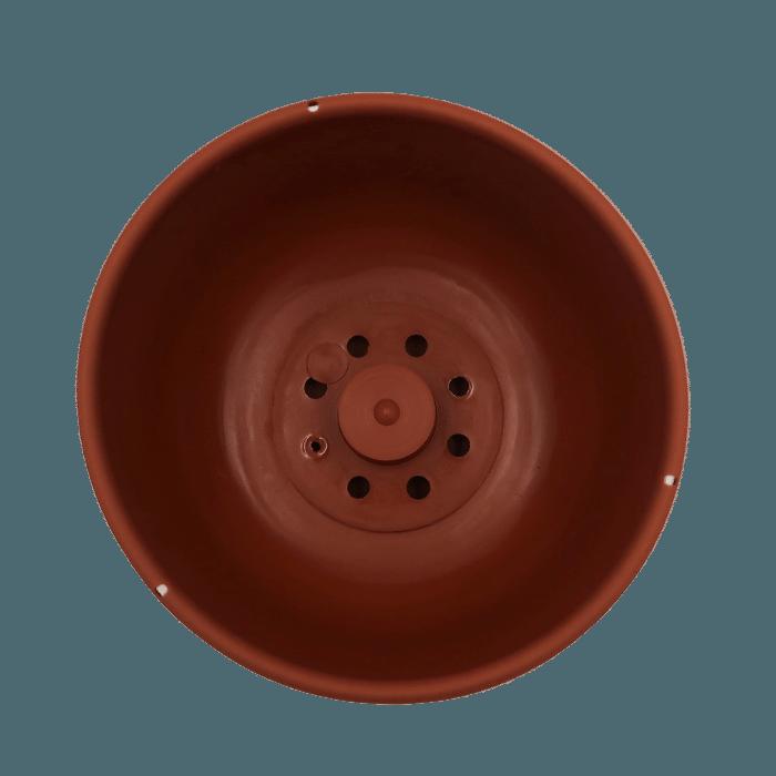 Cuia com prato - marrom - 09 x 15 cm kit 3 unid