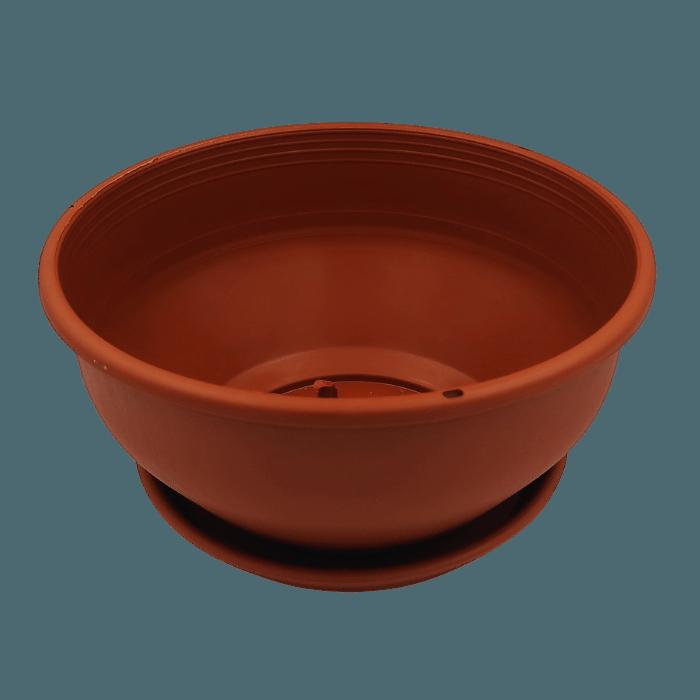 Cuia com prato - marrom - 12 x 24 cm