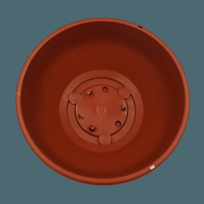 Cuia com prato - marrom - 12 x 24 cm - kit 03 unid