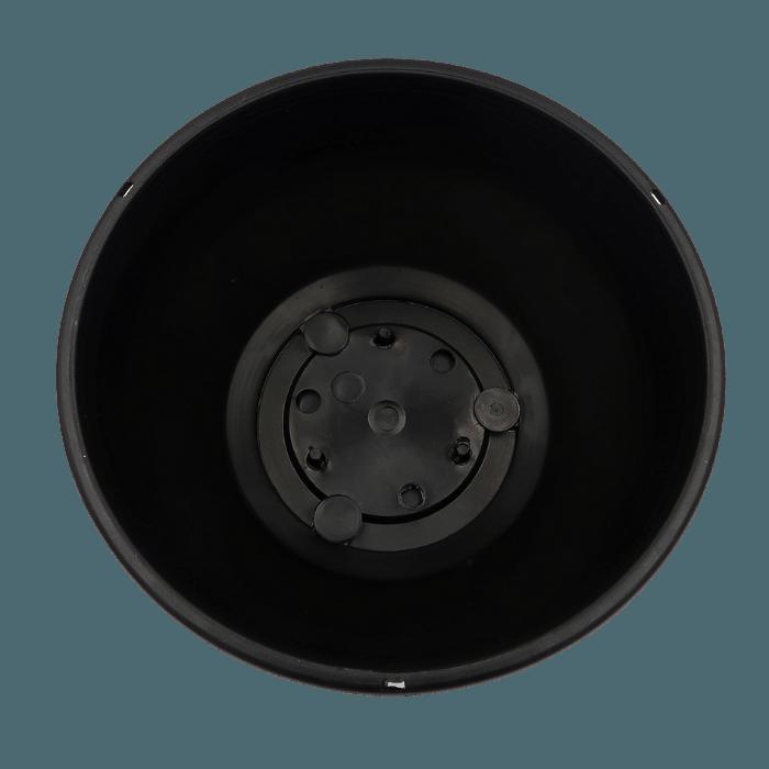 Cuia com prato - preta - 12 x 24 cm - kit 02 unid
