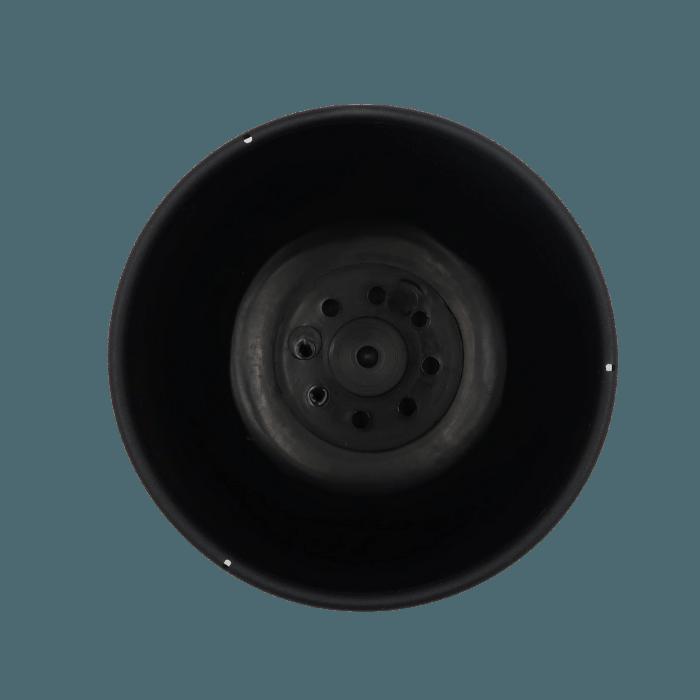 Cuia com prato - preto - 09 x 15 cm