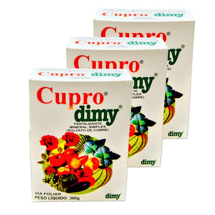 Cupro dimy - kit 03 caixas 300 gr