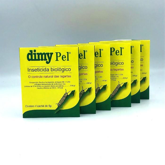 Dimy pel - controle biologico - kit 06 caixas 20 gr