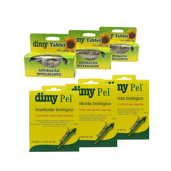 Dimy tablet - kit 03 x 50 gr + Dimy Pel  - 03 un