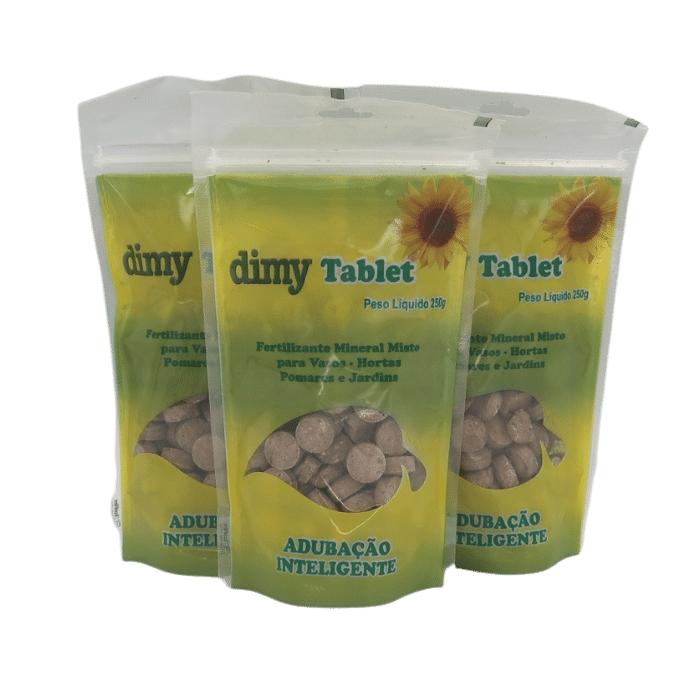 Dimy Tablet - Kit 3 unidades - 250 G cada unidade