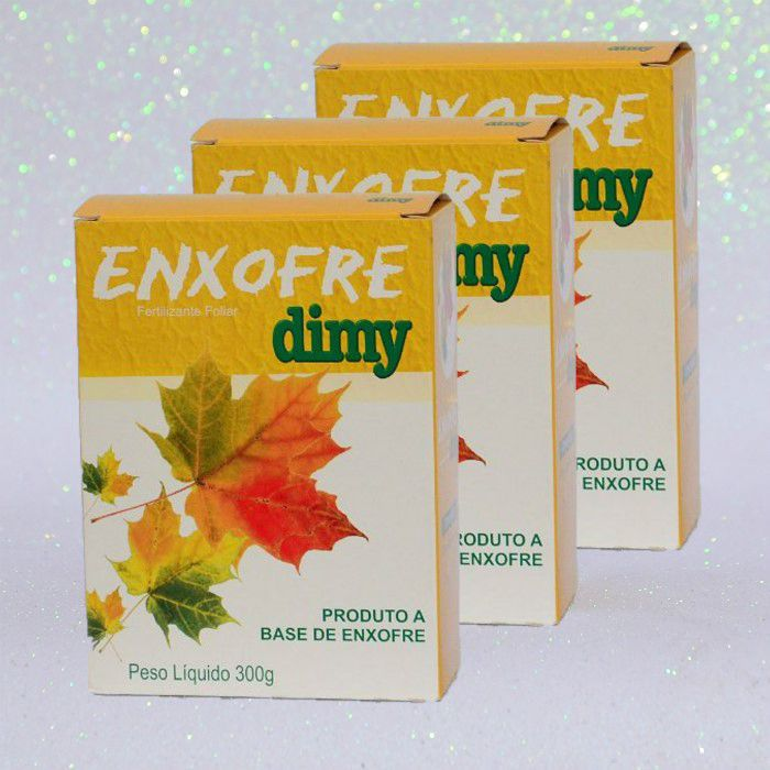 Enxofre dimy - kit 03 caixas 300  + brinde