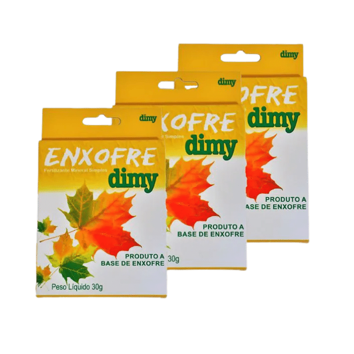Enxofre dimy - kit 03 caixas 30 gr