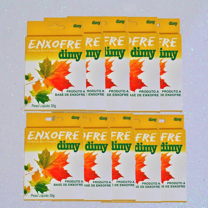 Enxofre dimy - kit 10 caixas 30 gr + brinde