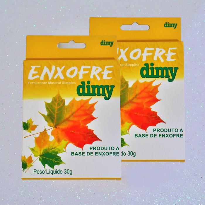 Enxofre dimy - kit 60 caixas 30 gr + brinde