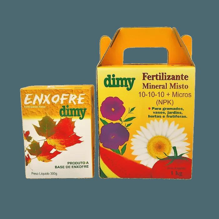 Enxofre + Fertilizante Mineral Dimy 10.10.10