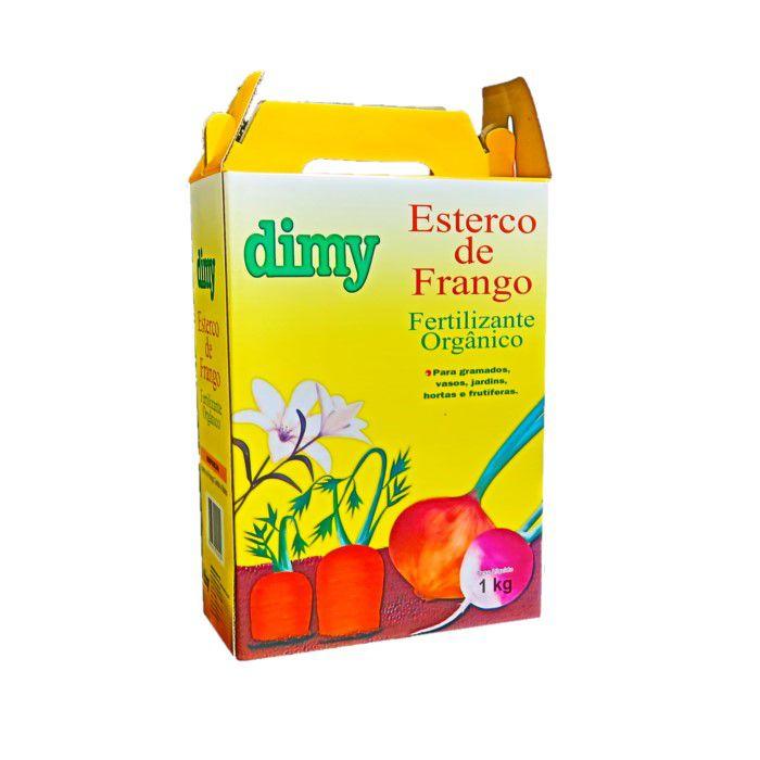 Esterco de frango - dimy -  caixa 1 kg