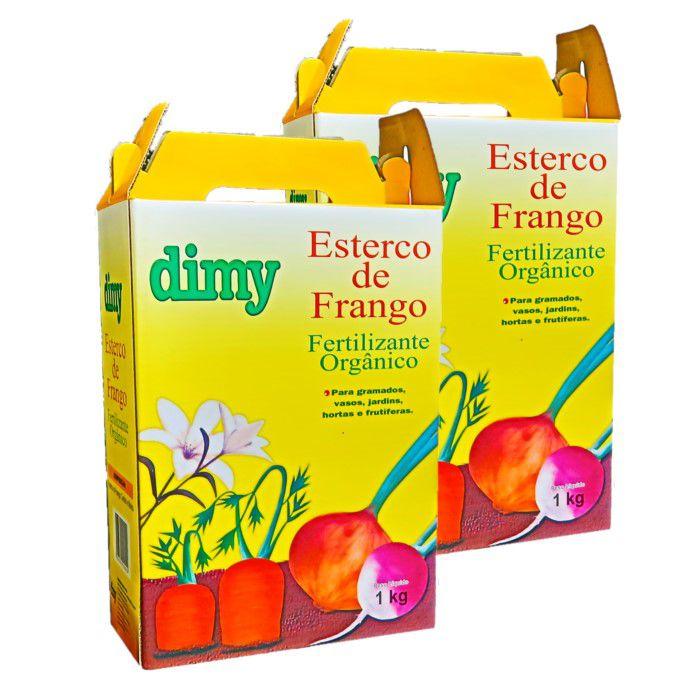 Esterco de frango - dimy -  kit 2 caixas 1 kg