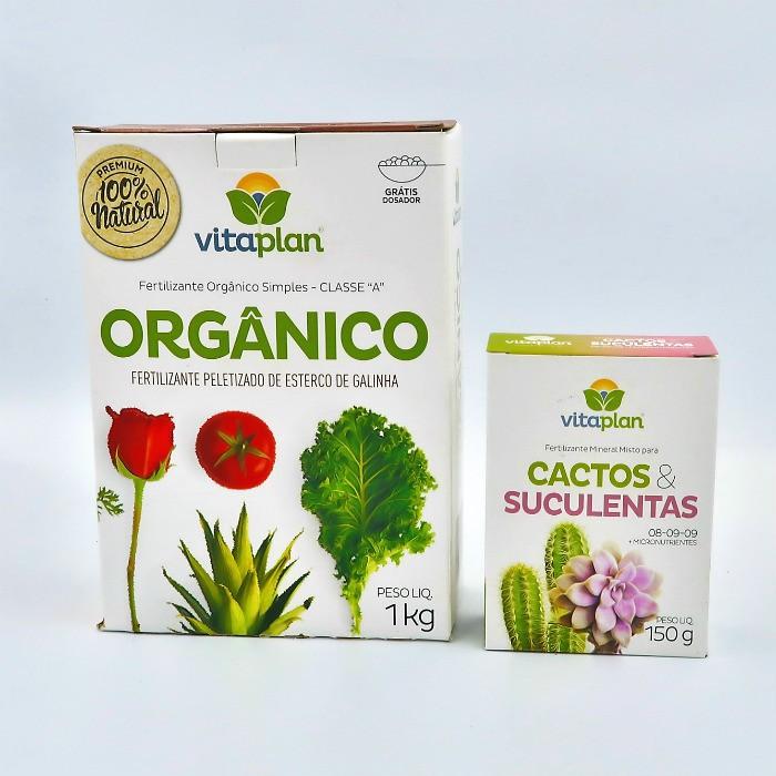 Esterco peletizado + fert. cactos e suculentas - vitaplan