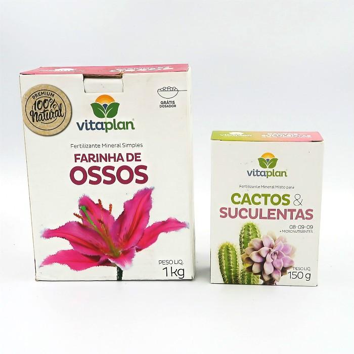 Farinha de ossos + Fert. cactos e suculentas - vitaplan