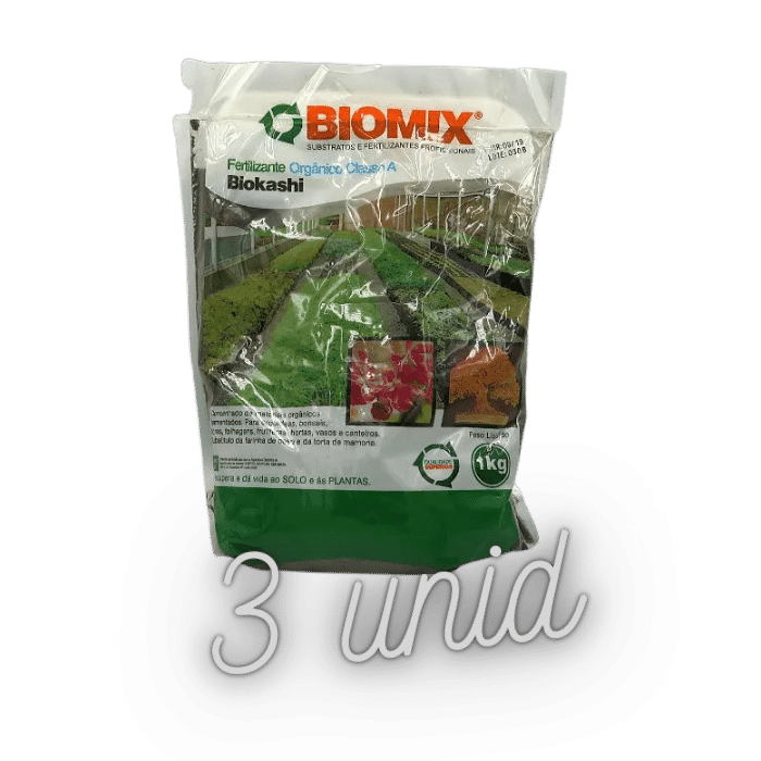 Fertilizante biomix biokashi - kit 3 x 1 kg