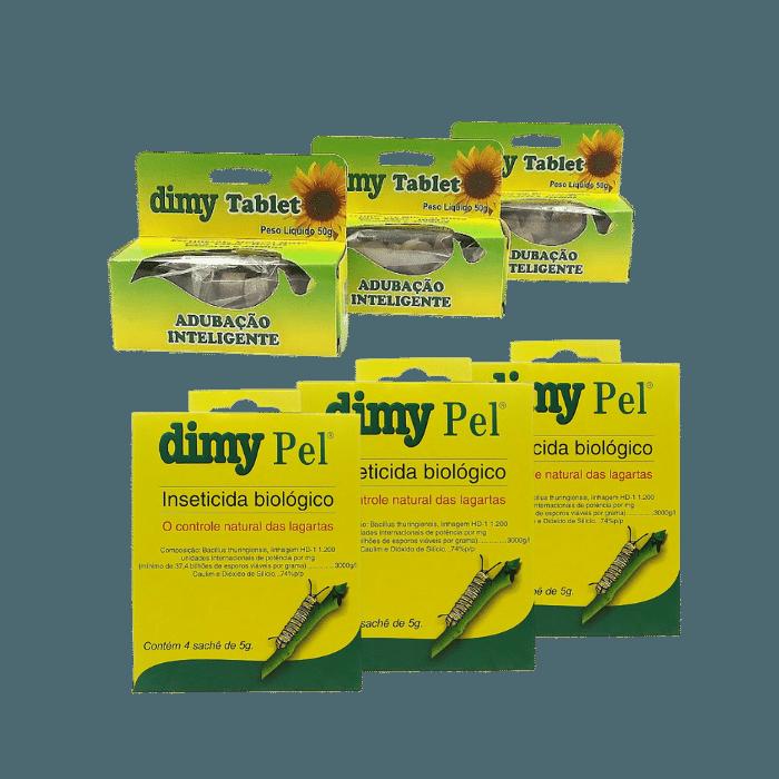 Fertilizante Dimy Tablet - kit 03 x 50 gr + Dimy Pel  - 03 un