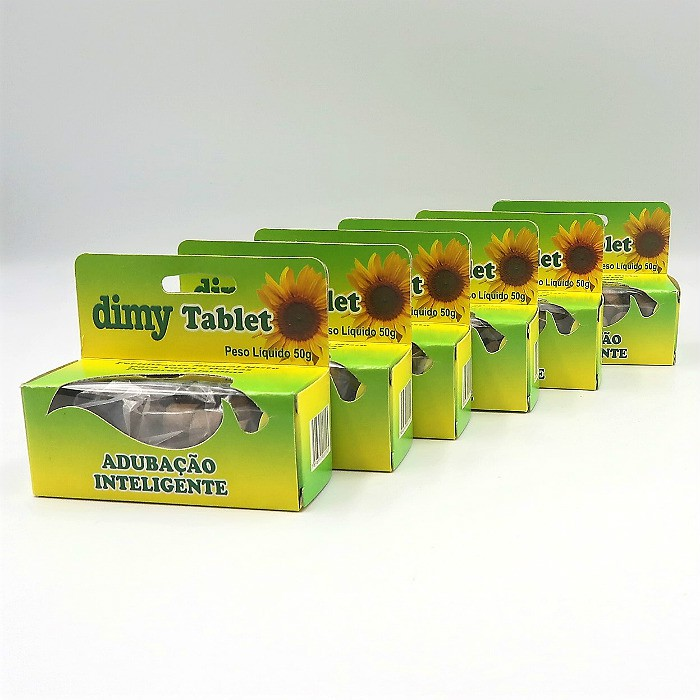 Fertilizante Dimy Tablet - kit 06 x 50 gramas