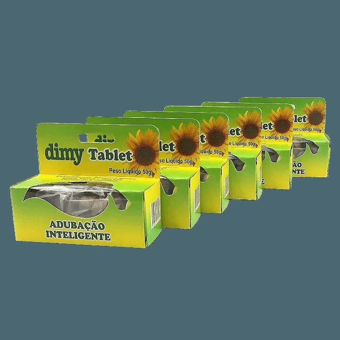 Fertilizante Dimy Tablet - kit 06 x 50 gramas
