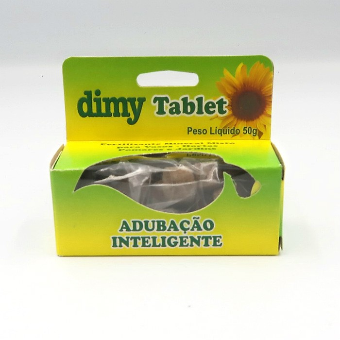 Fertilizante Dimy Tablet - kit 12 x 50 gramas
