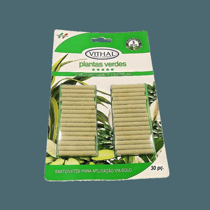 Fertilizante em Bastonetes Plantas Verdes Vithal 30 Unidades