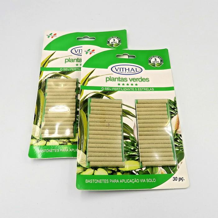 Fertilizante em Bastonetes Plantas Verdes Vithal 60 Unidades