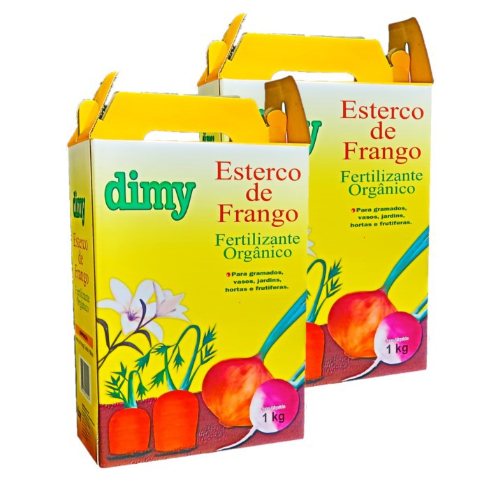 Fertilizante esterco de frango - dimy - kit 2 x 1 kg