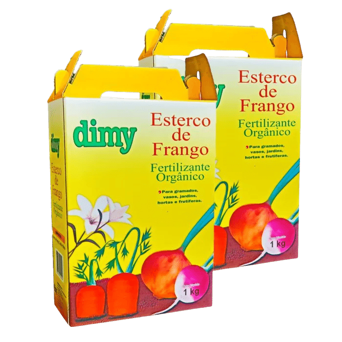 Fertilizante esterco de frango - dimy - kit 2 x 1 kg