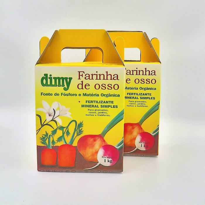 Fertilizante farinha de osso - dimy - kit 2 x 1 kg