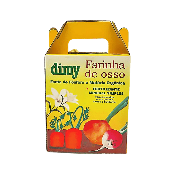 Fertilizante farinha de osso - dimy - kit 3 x 1 kg