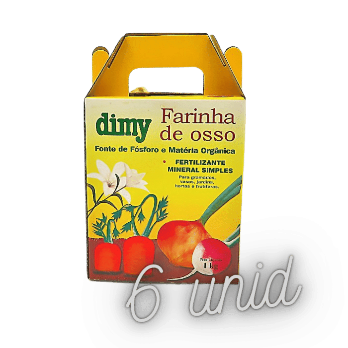 Fertilizante farinha de osso - dimy - kit 6 x 1 kg