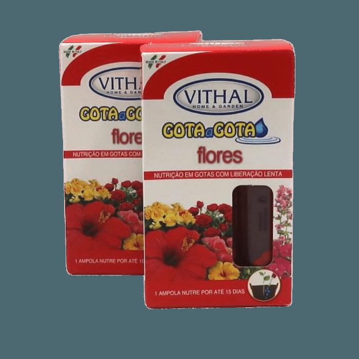 Fertilizante Gota a Gota - Flores - Vithal - 12 ampolas