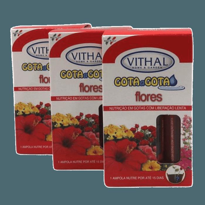 Fertilizante Gota a Gota - Flores - Vithal - 18 ampolas
