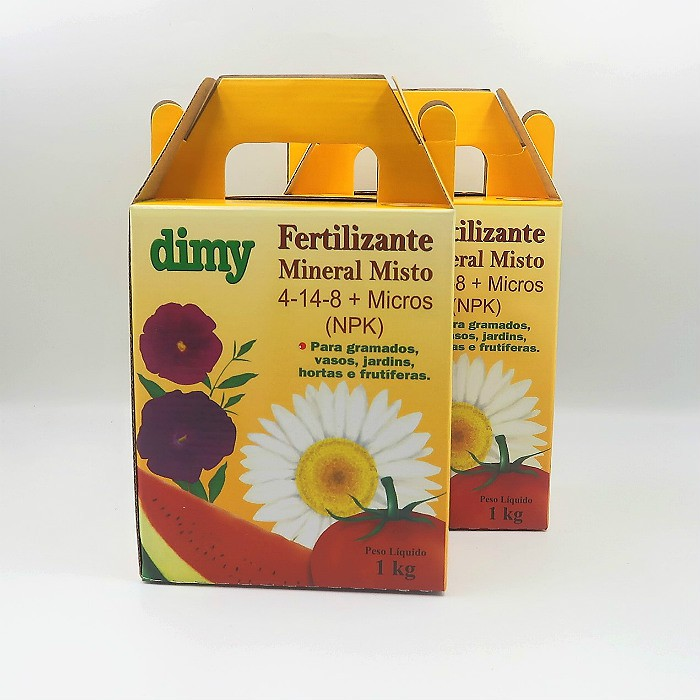 Fertilizante Mineral Dimy 04.14.08 - kit 2 x  1 kg