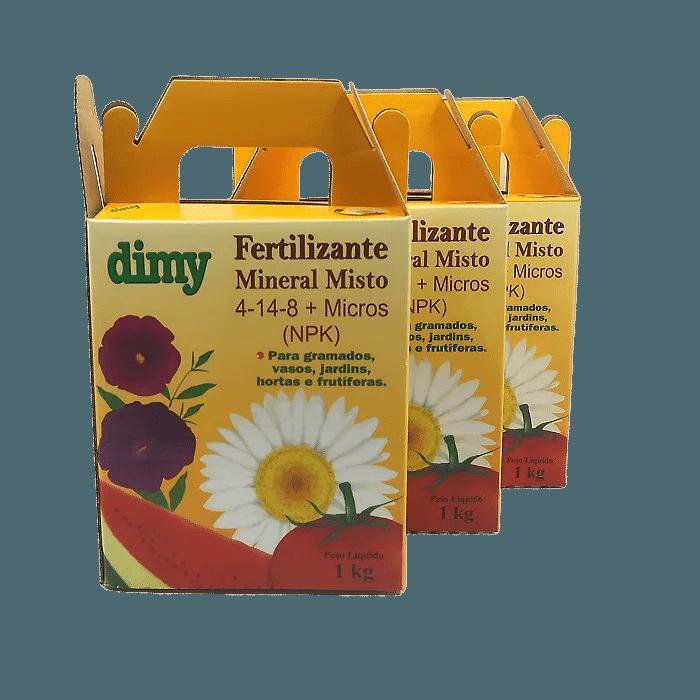 Fertilizante Mineral Dimy 04.14.08 - kit 3 x  1 kg