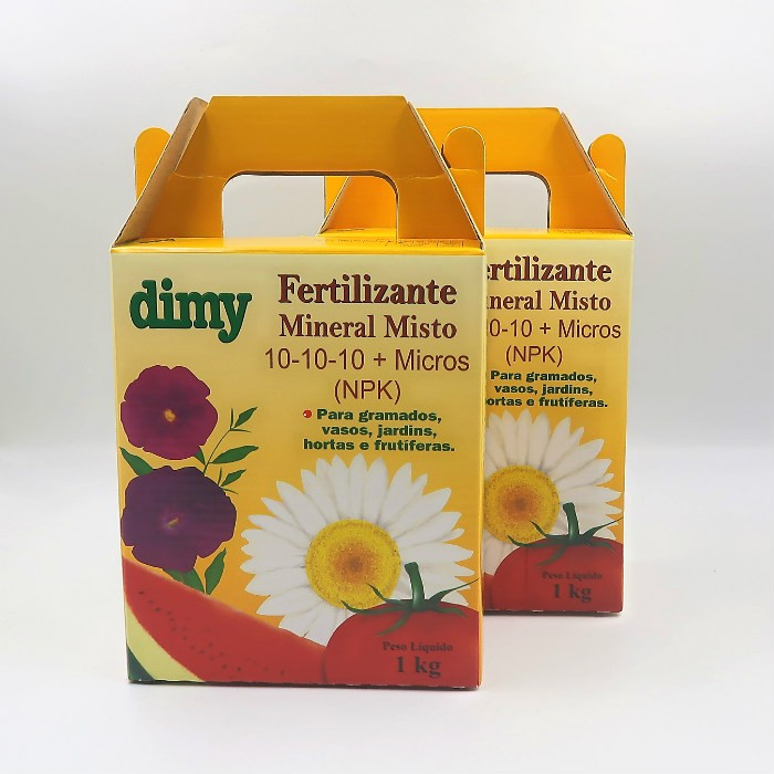 Fertilizante Mineral Dimy 10.10.10 - kit 2 x  1 kg