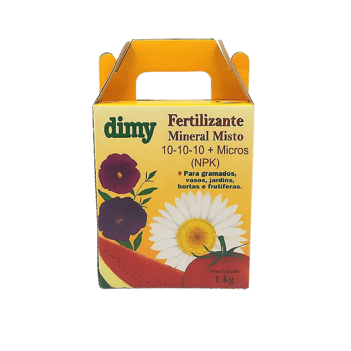 Fertilizante Mineral Dimy 10.10.10 - kit 3 x  1 kg