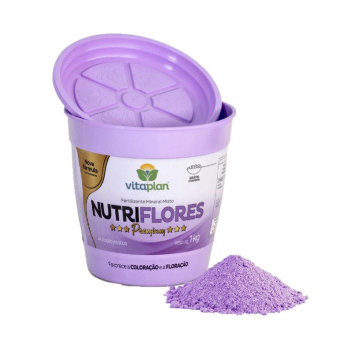 Fertilizante Nutriflores Premium - 1 kg + brinde - NPK 06-12-06