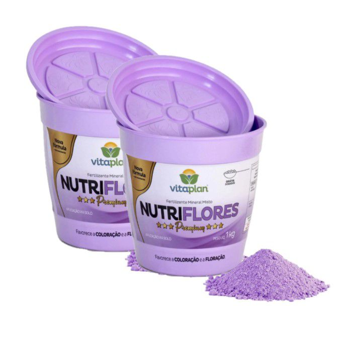 Fertilizante Nutriflores Premium Kit 2 x 1 Kg + brinde - NPK 06-12-06