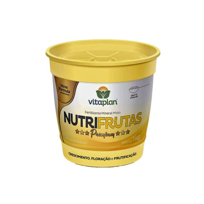 Fertilizante Nutrifrutas Premium - 1 kg + brinde - NPK 11-06-24