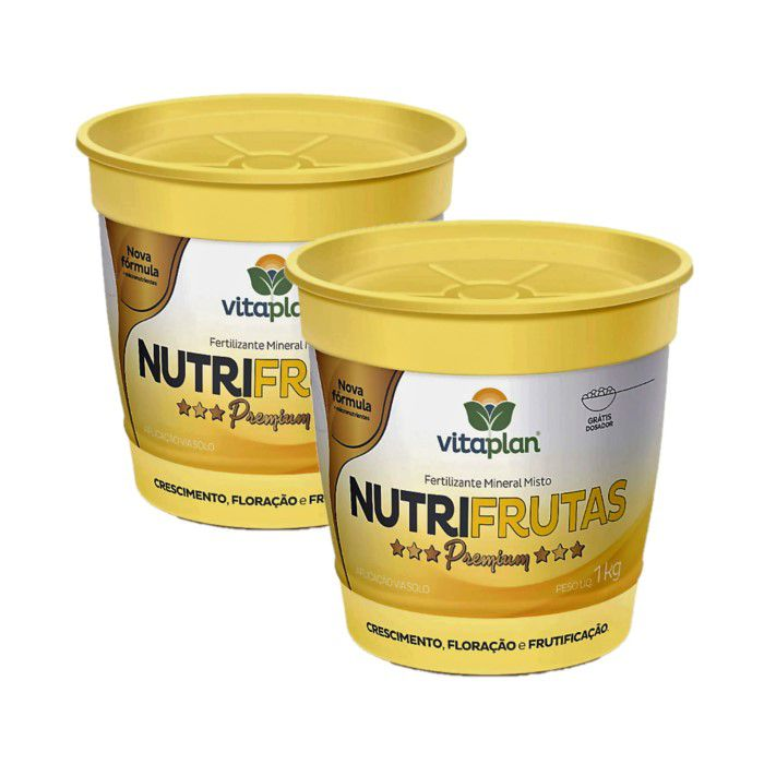 Fertilizante Nutrifrutas Premium - kit 2 embalagens 1 kg - crescimento