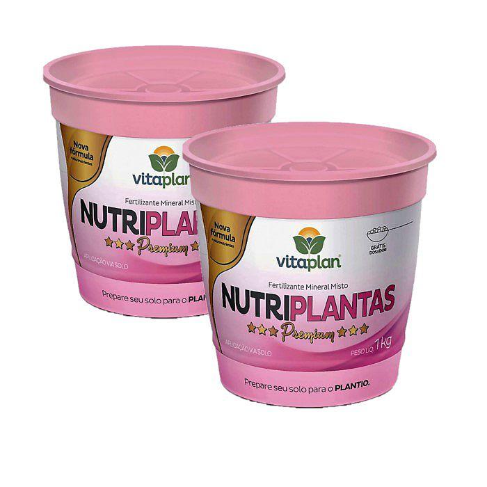 Fertilizante Nutriplantas Premium - kit 2 x 1 kg + brinde - NPK 02-15-10